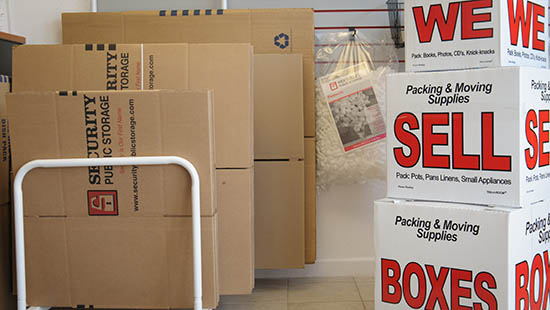 Boxes at Roseville Storage Cirby Way