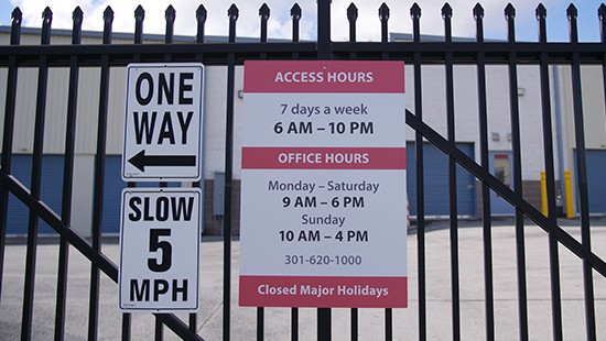 Frederick storage access hours