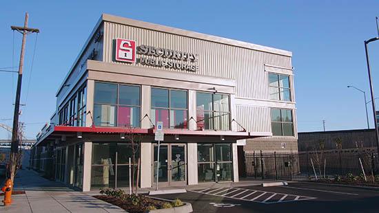 Front office of Slabtown Portland self storage units