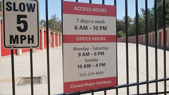 Martinez Secure Storage access hours