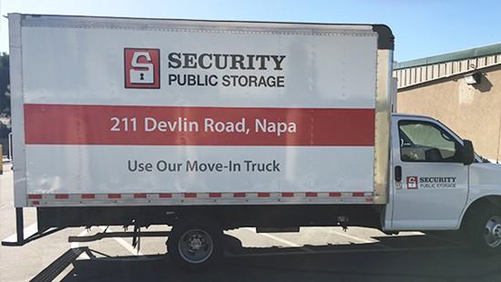 Napa courtesy moving truck