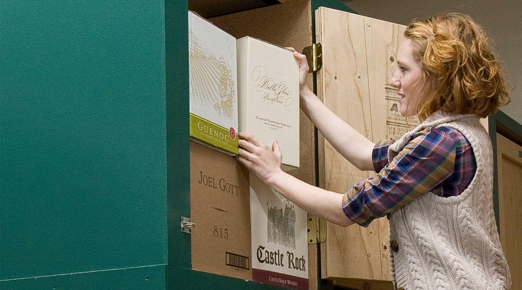 Napa storage wine locker