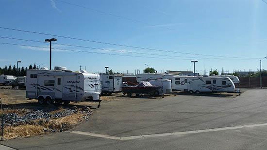 Roseville covered rv storage