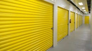 San Ramon climate-controlled storage units with yellow doors