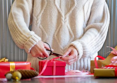 Hide and Wrap Gifts in a Storage Unit/Santa Closet at SPS