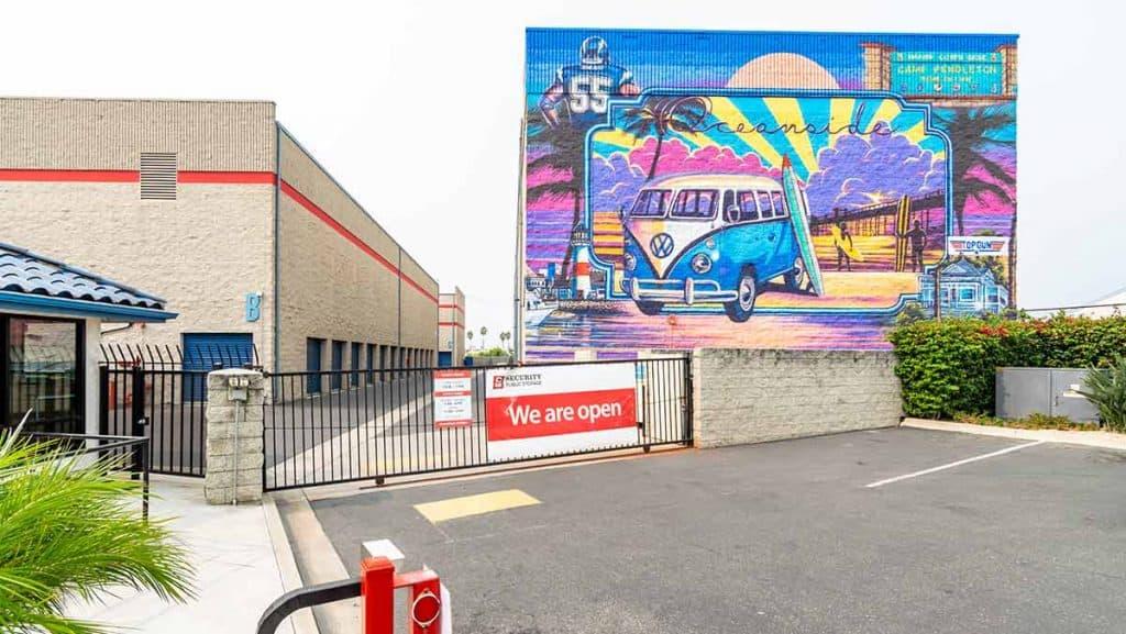 sps oceanside storage security gate mural