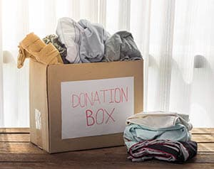 donate clothes and make more room at home