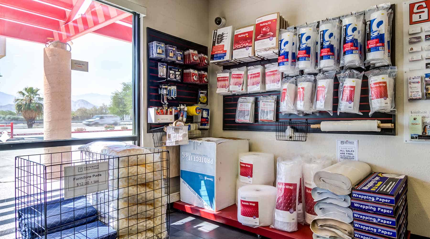 moving packing supplies palm desert
