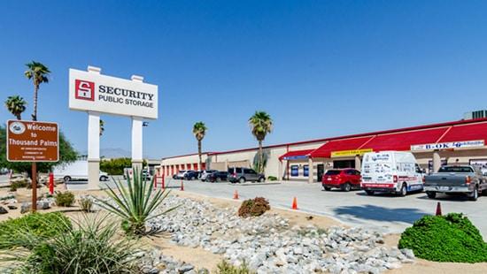 storage facility palm desert