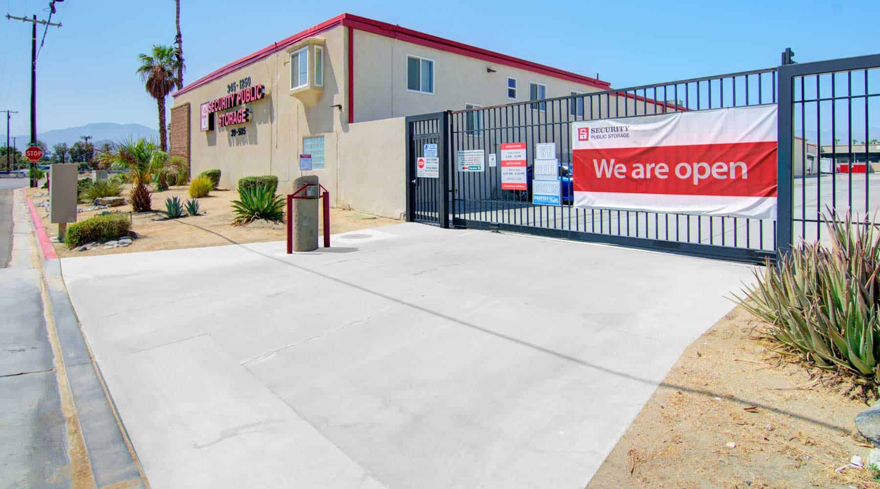 palm desert storage security gate